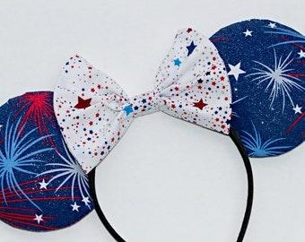 Patriotic Firework ears
