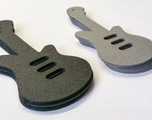 Electric Guitar Die Cuts Cardstock Cut Outs