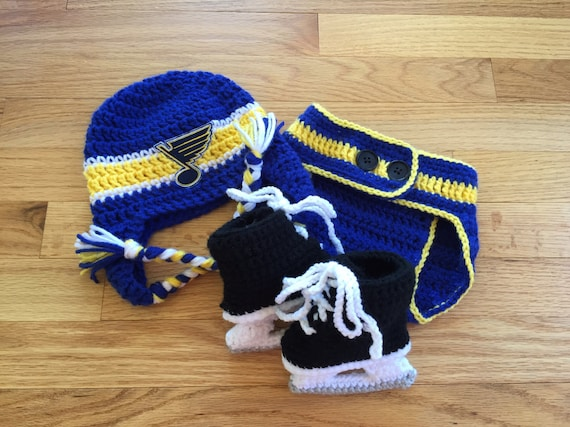 St Louis Blues Crocheted Outfit
