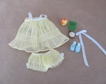Vintage Barbie Clothes, 1960's Barbie Sweet Dreams Outfit, #973 Sweet Dreams Complete Outfit and Accessories, Vintage Barbie Outfit