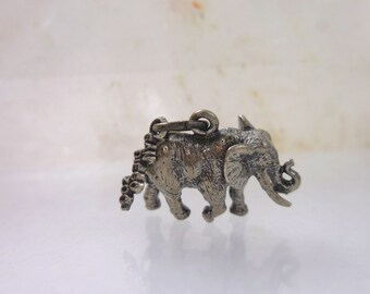 Elephant Pendant  Sterling Silver