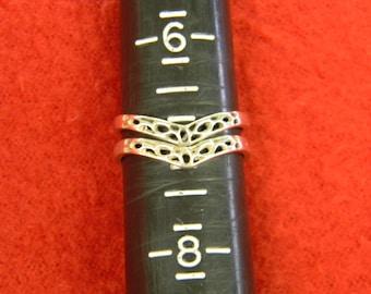 Sterling Silver 925 Splendid Set Of Arrow Design Rings Size 7 ET 6129