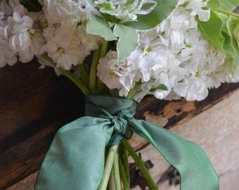 sage green taffeta french wired ribbon