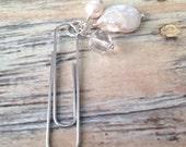 Pearl paper clip Planner clip Filofax Midori Kikki K Happy Planner
