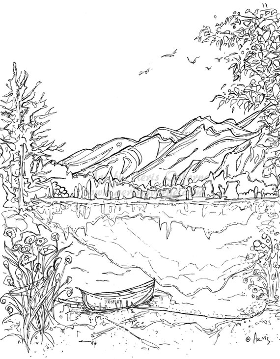 coloring pages on lake - photo#33