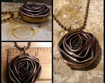 Copper Rosette Pendant