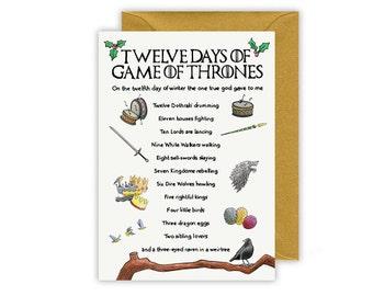 Multipack Twelve Days of Game of Thrones Christmas Card Packs of 5 and 10
