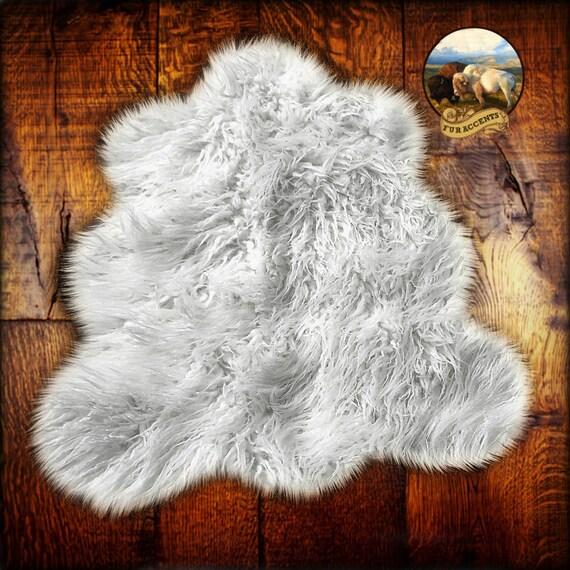 Sale Soft Faux Fur Area Rug Shaggy Mongolian Shag By