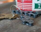 Recycled Bike Keychain, Bicycle Keychain, Mountain Bike Chain Keyring, Bicycle Gift