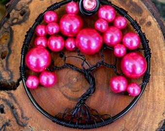 Tree of Life - Hot Pink Bubble Tree