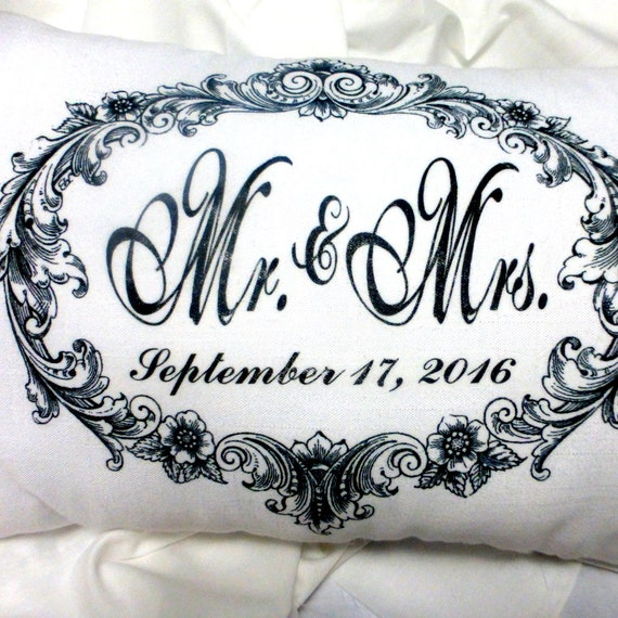 Personalized Pillows For Wedding Gift: Personalized Wedding Pillow Personalized Wedding Gift
