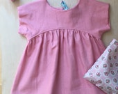 Linen Blend Audrey Tunic Top sizes 2-6 years