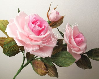 Wedding flowers,paper flowers,wedding roses,paper flower bouquet,pink roses,paper flowers,bridal paper flowers.