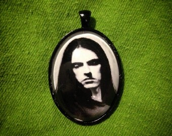 Peter Steele Glass Pendant - Type O Negative - Cameo Cabochon Necklace