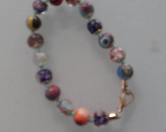 Multli coloured beaded bracelet