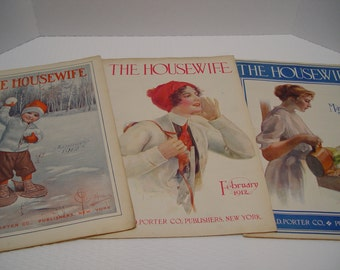 The Housewife Magazine, Set of 3, 1912