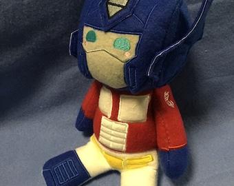 Transformers  Plush Plushie BittyBot Optimus Prime Toy from Mythfits