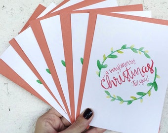 Very Merry Christmas Cards (Set of 3)
