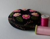 Handmade Felted Wool Pink Nosegay Pin Cushion