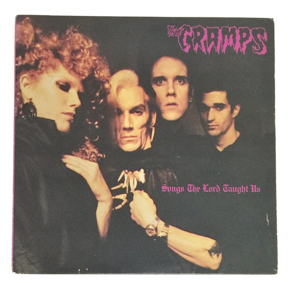 Vintage 80s The Cramps Songs The Lord Taught Us Album Record Vinyl LP
