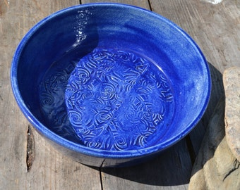 blue shallow bowl
