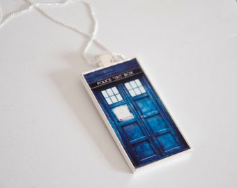 Doctor Who Necklace Doctor Who Jewelry Doctor Who Tardis Necklace Tardis Jewelry Tardis Pendant Geek Jewelry Sci Fi 11th Doctor