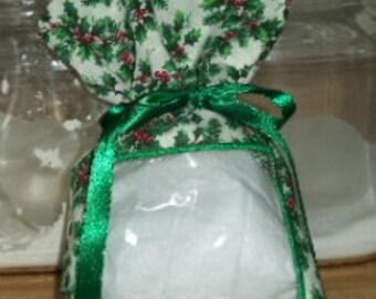See through reusable fabric gift bag