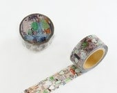 Chamil Garden Washi Tape Mixed Media style - Green MTW-CH058