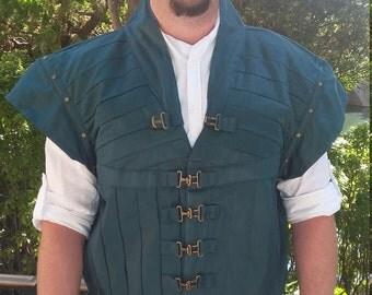 Men's Flynn Rider Eugene Fitzherbert my version of his vest with belt renaissance vest
