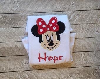 Minnie Inspired Applique Shirt