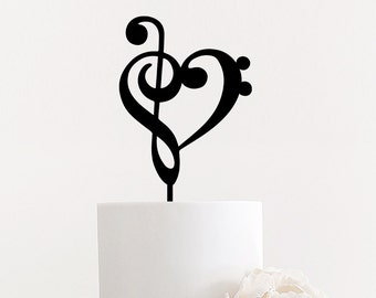 Love Music Note Cake Topper for Weddings Events Parties Laser Cut by Ngo Creations