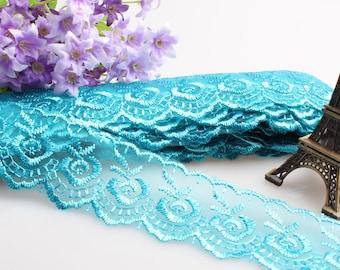 Lace DA23 trim 10yards ribbon floral embroidery
