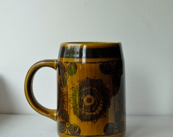 Cool Norweigan, Inger Waage, Stavangerflint, Mid-Century Modern Ceramic mug/tankard. Awesome Father's Day Gift