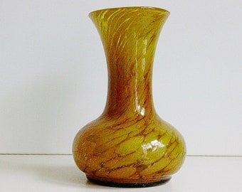 Murano Empoli cased glass vase, Italy