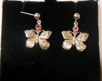 Butterfly Earrings w/Stones