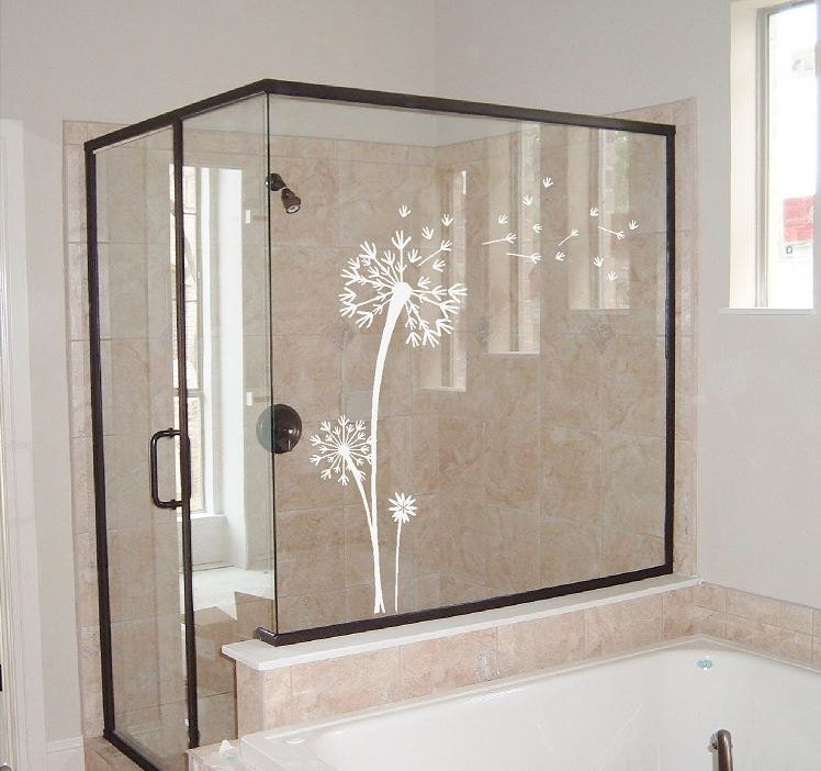 Dandelion Decal Etched Glass Vinyl Dandelion Wall Art - Vinyl etched glass window decals