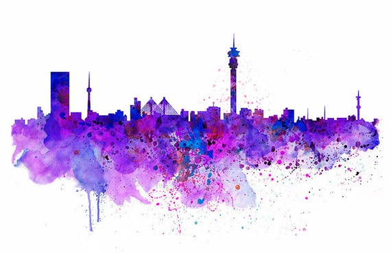 Johannesburg skyline watercolor painting wall art aquarelle johannesburg skyline watercolor painting wall art aquarelle city art johannesburg poster printable art contemporary art johannesburg decor thecheapjerseys Choice Image