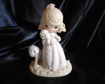 1985 - The Lord is My Shepherd //Precious Moment Figurine//Signed by Sam Butcher