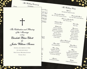 Wedding Programs Elegant Wedding Program Traditional Wedding Programs Classic Wedding Program