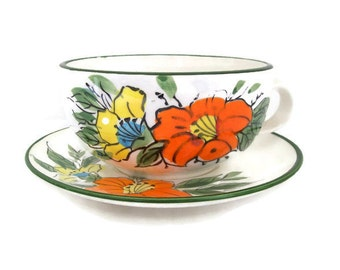 Large Soup Cup and Saucer