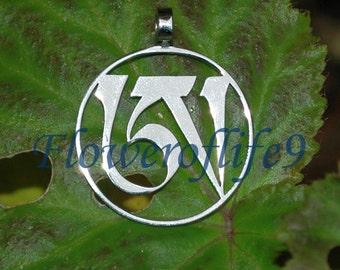 Dzogchen pendant (1 1/8 inch) - Stainless Steel