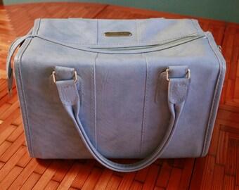 Vintage Light Blue Samsonite Carry on, Luggage, Camera Bag, Cosmetic Bag Case