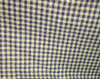 Fabric, Flannel Fabric, Cotton Blend Fabric, Green Fabric, Green Checkered Cotton Blend Fabric