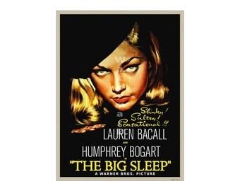 Lauren Bacall - The Big Sleep - Vintage Film Noir Movie Poster