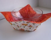 Orange Owl Microwave Bowl Cozie
