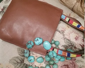 Vintage Cowgirl  Style Purse Leather