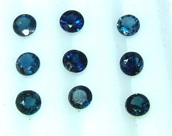 Wholesale Sapphires 3.8mm Round Sapphire Lot Natural Blue Sapphires Qty 9 Stone Replacement