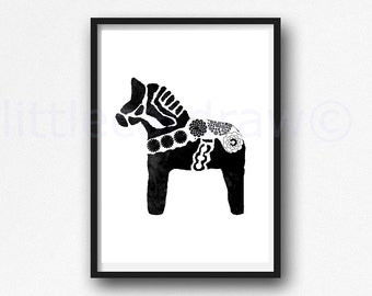 Items Similar To Framed Horse Burlap Print Burlap Print