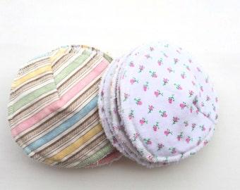 "10 Reusable Contoured Nursing Pads - Breastfeeding pads - Absorbent Nursing Pads - Made with Zorb - 4"" diameter."