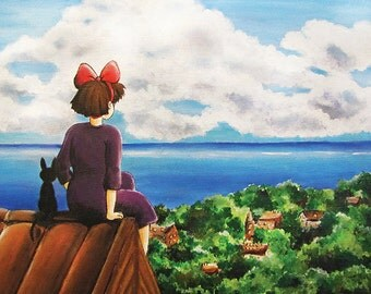 Studio Ghibli Kiki's Delivery Service Painting Print